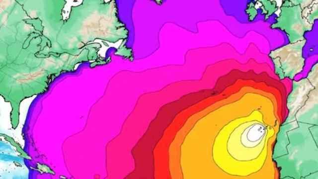 Una de las imágenes que ilustran cómo el megatsunami podría originarse en La Palma.