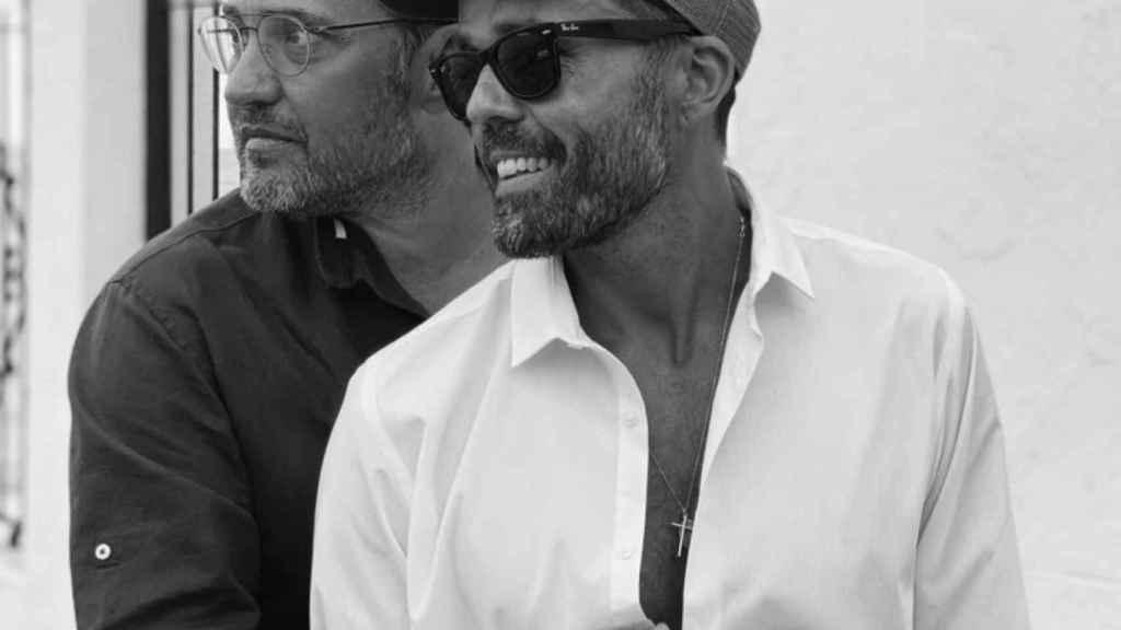 Máximo Huerta y Juan Castillo, en una imagen compartida por el presentador en su Instagram.