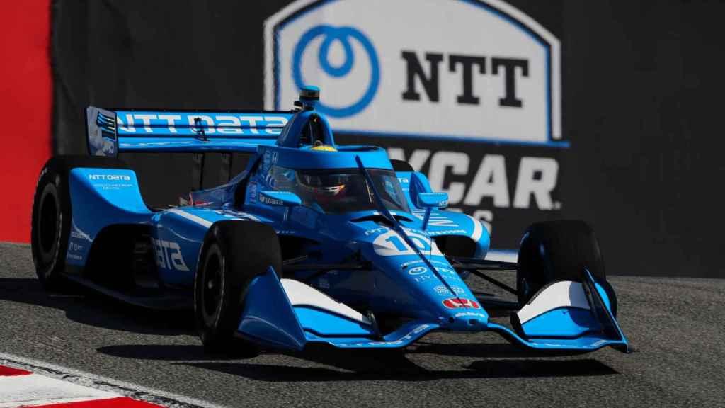 Alex Palou, del equipo Chip Ganassi Racing, durante la carrera de la Indycar