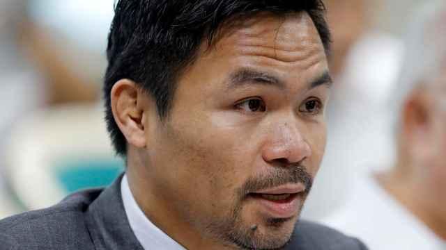 El boxeador Manny Pacquiao, candidato a la presidencia de Filipinas