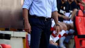 Míchel, en un partido del Getafe de La Liga 2021/2022