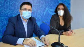 Teo García, concejal de Cultura, y Mar Álvarez, concejal de Turismo