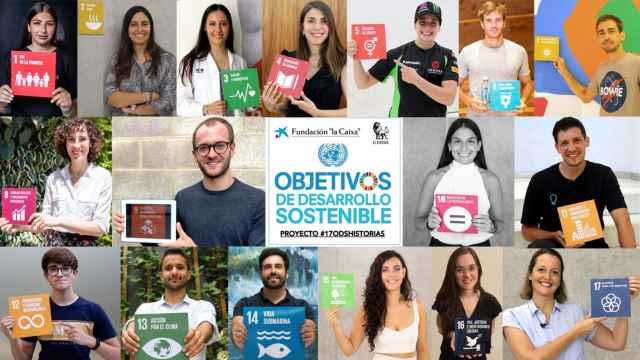 17 jóvenes que trabajan en la consecución de los 17 ODS