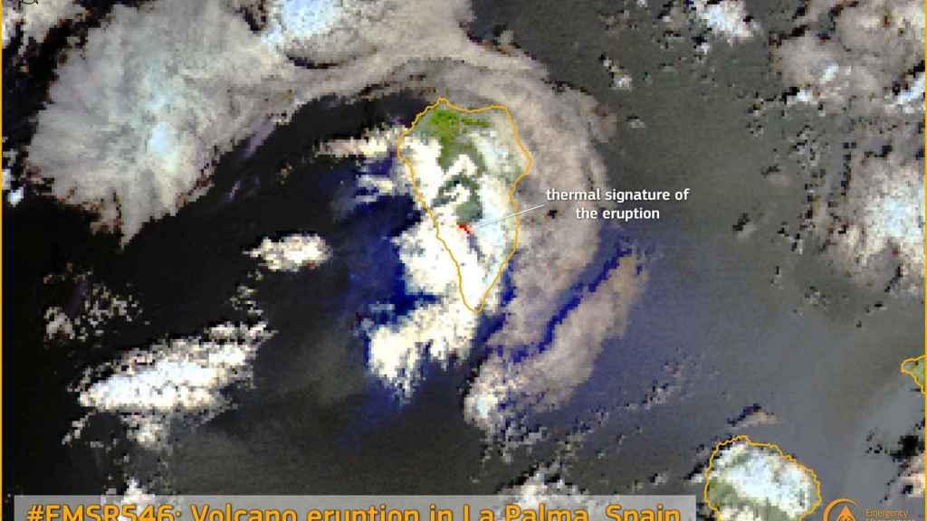Pedro Duque explica cómo el programa europeo Copernicus monitoriza fenómenos naturales como el de La Palma.