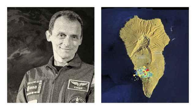 Pedro Duque  explica cómo los satélites del programa Copernicus mapean el peligro de La Palma desde el espacio