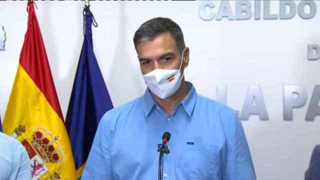 Sánchez en La Palma: Todos los recursos del Estado están a su disposición