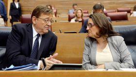 Ximo Puig y Mónica Oltra, en una imagen de archivo. EFE