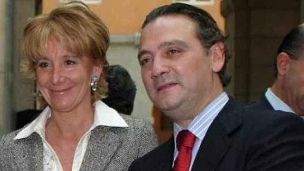Alfredo Prada y Esperanza Aguirre, en una imagen de archivo./