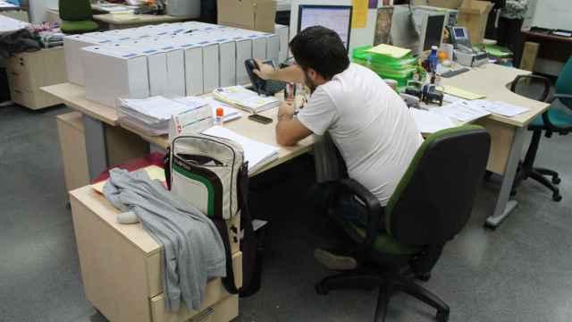 Un funcionario público en una imagen de archivo.