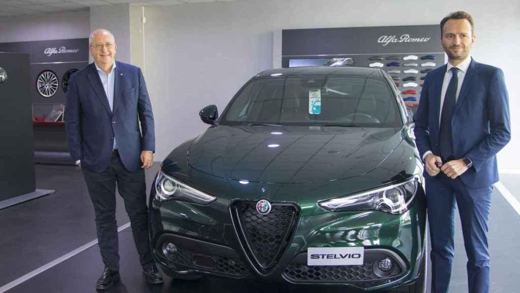 El CEO de Alfa, Jean-Philippe Imparato, y Francesco Colonnese, director de Alfa en España.