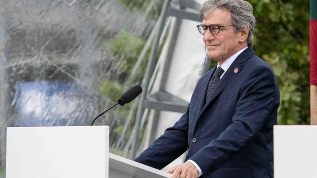 El presidente de la Eurocámara, David, Sassoli.