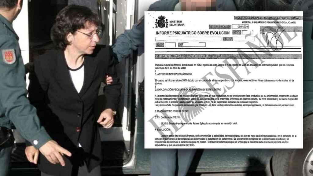 Noelia de Mingo, cuando fue detenida en el año 2003.