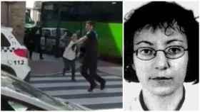 Noelia de Mingo trató de atacar a uno de los dos policías locales que finalmente la redujeron.