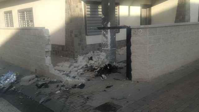 Estado en el que quedaron las terrazas de los restaurantes de Roldán tras el atropello múltiple.