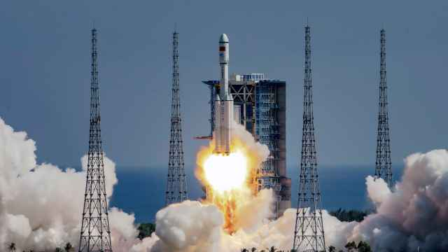 Long March-7 rocket, carrying the Tianzhou-3 cargo spacecraft, takes off from Wenchang Spacecraft Launch Center
