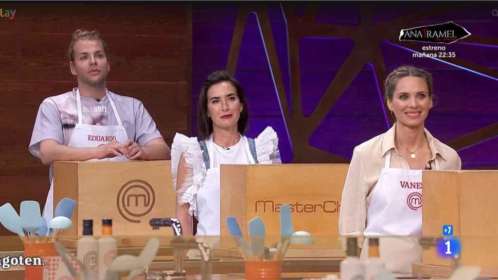 Vanesa Romero, Navarrete y Belén López en la segunda entrega de 'MasterChef Celebrity'.