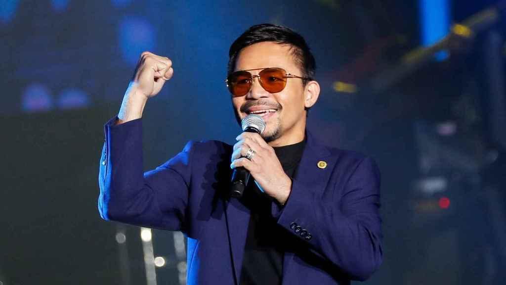 Manny Pacquiao, durante un acto
