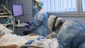 Un paciente Covid en un hospital. EP
