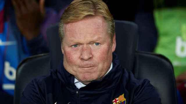 Koeman, en el banquillo del Barça