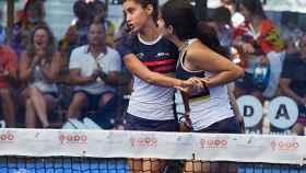 Elena Ferreira y Natalia Martín durante el campeonato