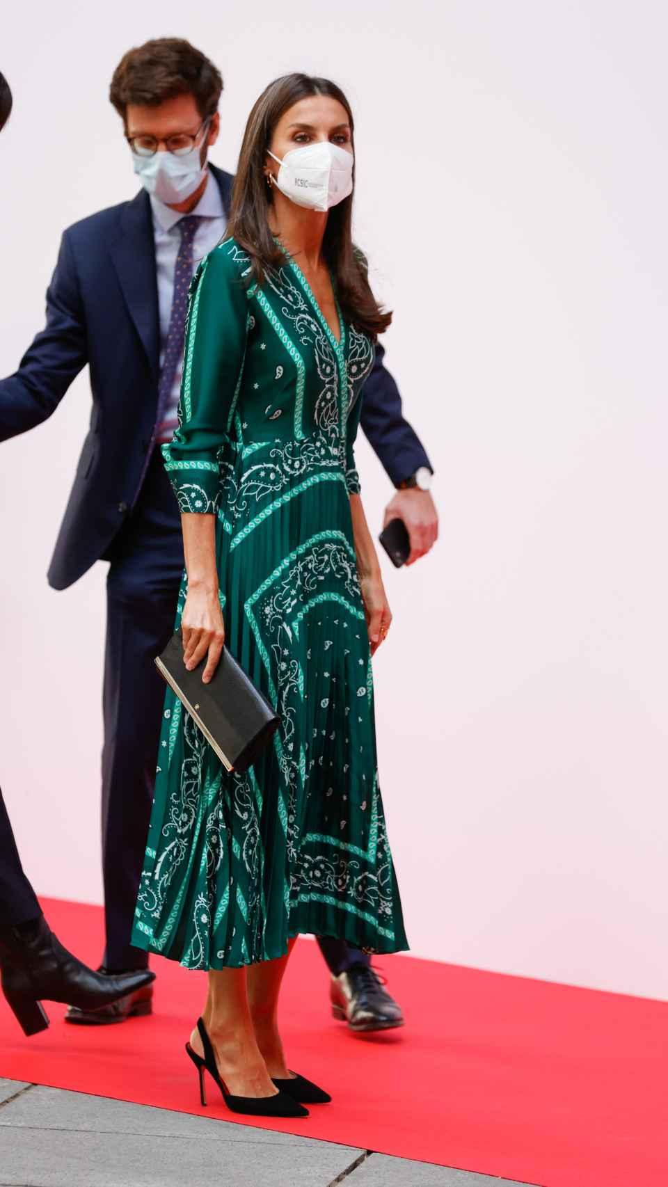 El 'outfit' que ha escogido la Reina para su acto de este martes.