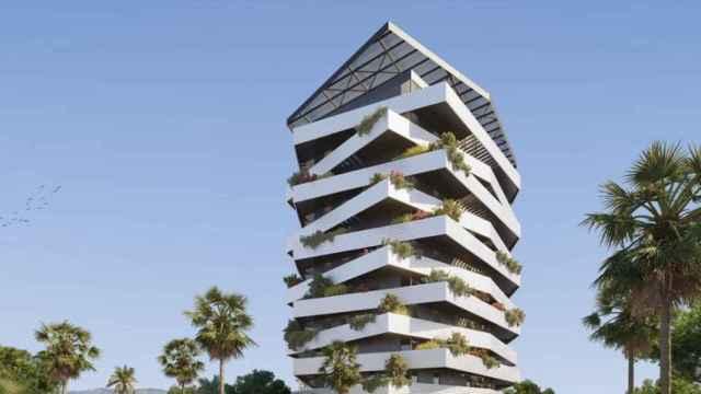 Diseño del futuro edificio en la zona oeste de Málaga.