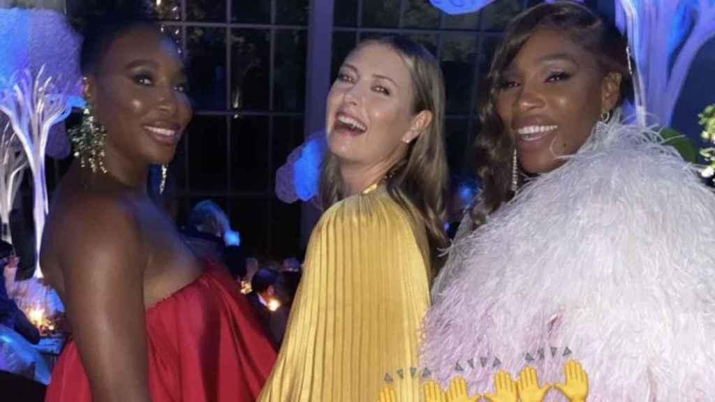 Venus Williams, Maria Sharapova y Serena Williams en la gala MET