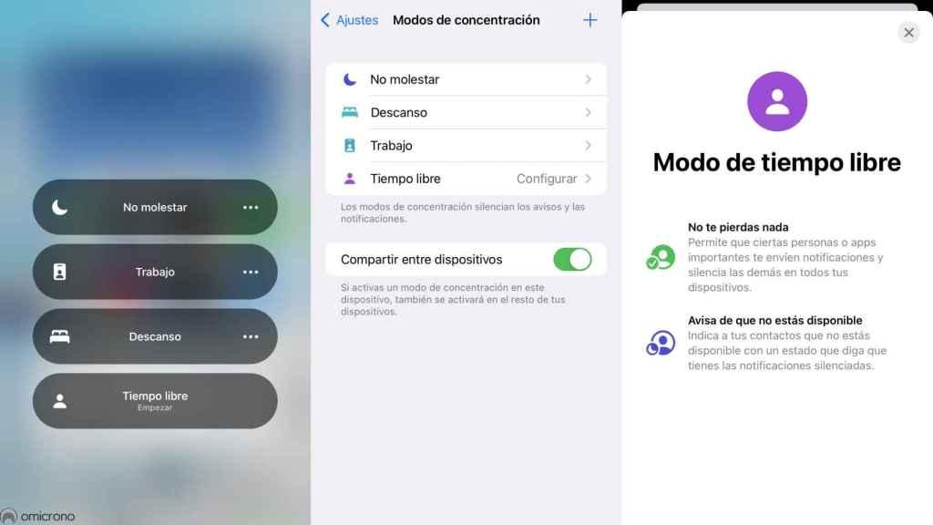 Concentración en iOS 15