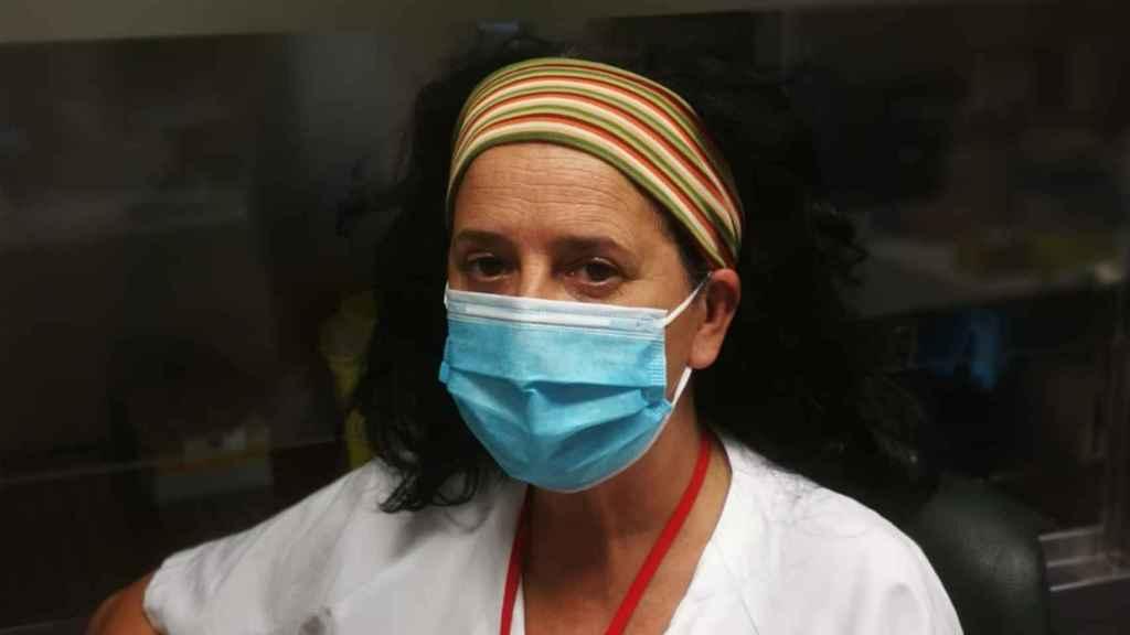 Olga álvarez, técnico de laboratorio y de radiología en el hospital Gregorio Marañón de Madrid.