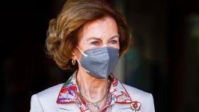 La reina Sofía en su último acto público de agenda institucional.