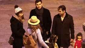 Iker Casillas y Sara Carbonero junto a unos amigos en Corral de Almaguer en 2019. Gtres