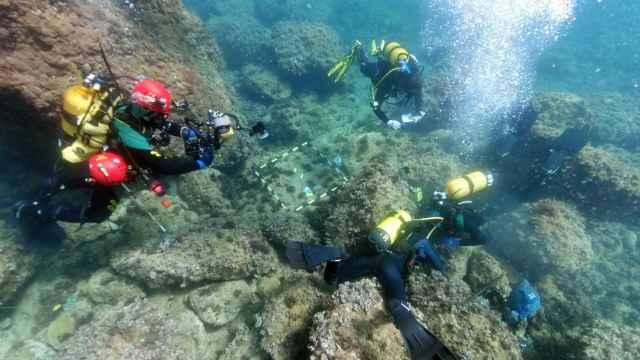 Hallan 53 monedas de oro de los siglos IV y V en el fondo marino del Portitxol de Xàbia.