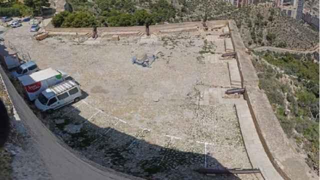 El baluarte de Santa Ana se usó durante años como aparcamiento, lo que provocó un serio desgaste.