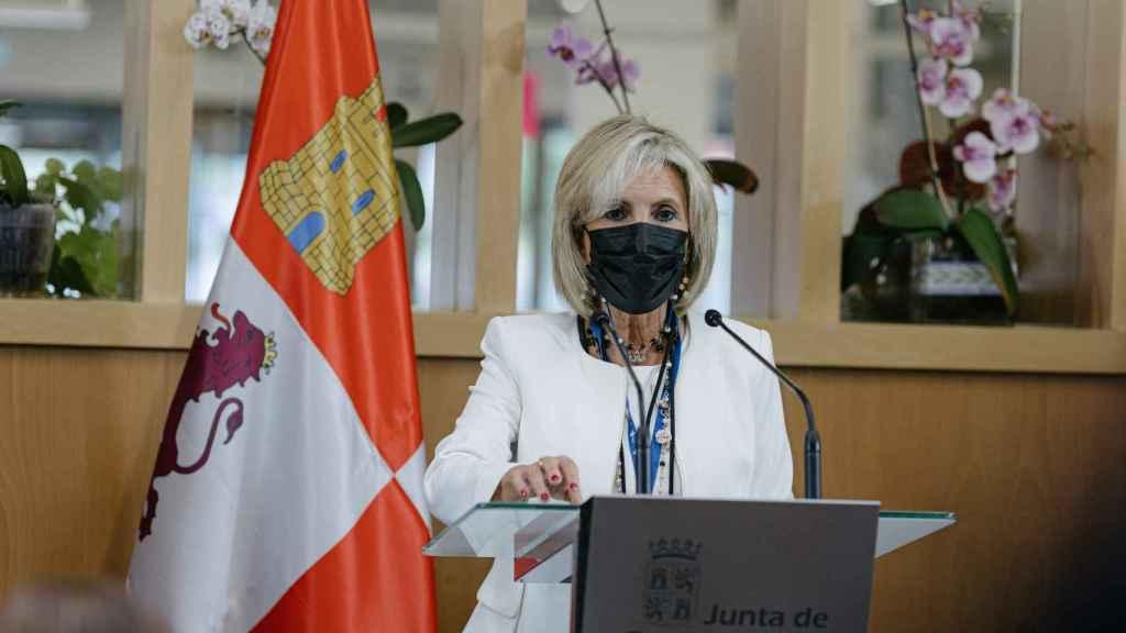 La consejera de Sanidad de Castilla y León, Verónica Casado, en la reunión de Soria