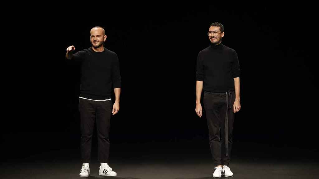Los diseñadores Antonio Burillo y Juan Carlos Fernández.