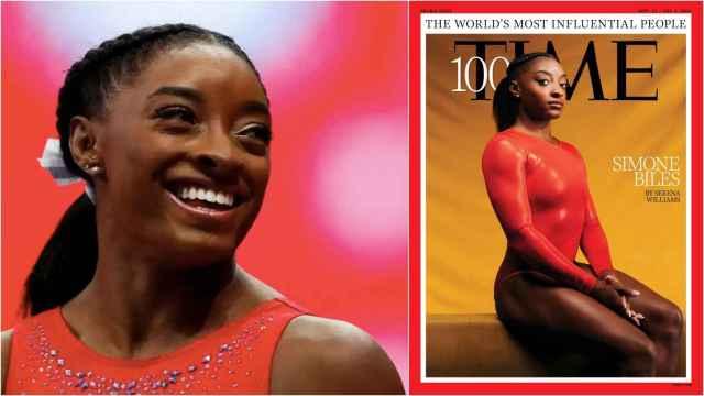 Simone Biles, en la revista Time