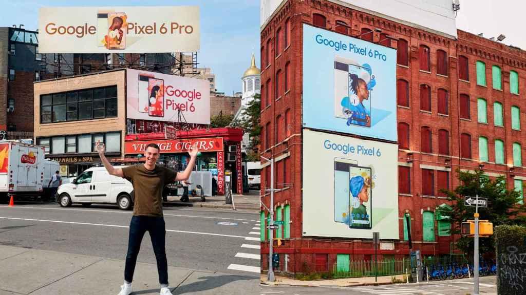 Anuncios en vallas publicitarias de los Pixel 6