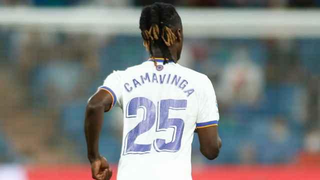 Eduardo Camavinga, en un partido del Real Madrid en la temporada 2021/2022