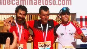 Sergio Tejero, junto a Heras y Olmedo