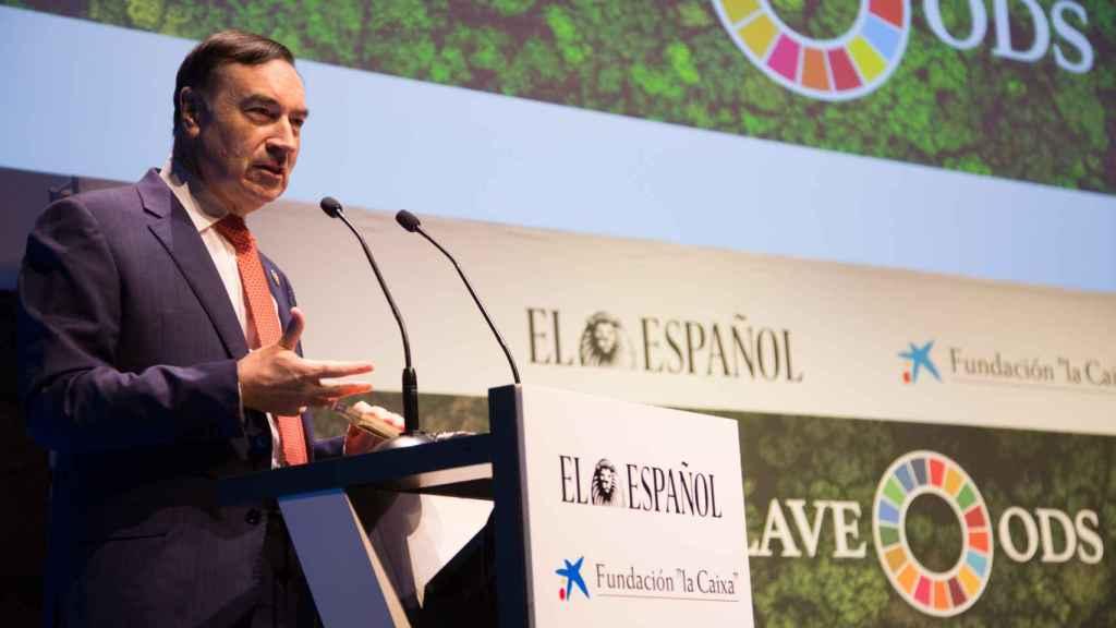 Pedro J. Ramírez, presidente ejecutivo y director de EL ESPAÑOL, durante su intervención.