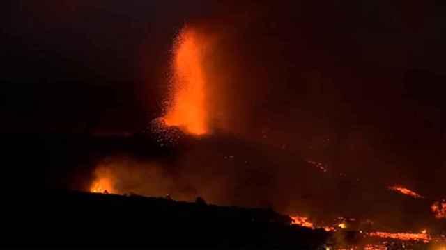Imágenes del volcán en erupción