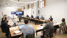 Primera reunión del consejo asesor de I+D+i de Navarra, presidido por el consejero Juan Cruz Cigudosa.