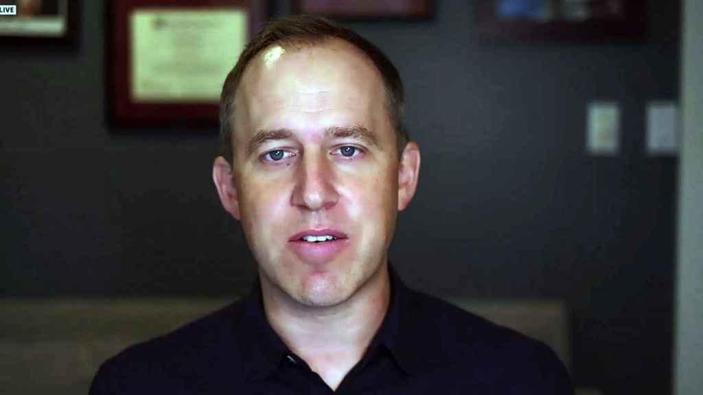 Bret Taylor, presidente y director de operaciones de Salesforce, durante la presentación previa de Dreamforce 2021.