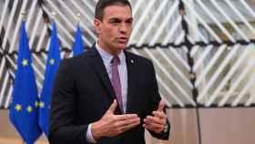 El presidente del Gobierno, Pedro Sánchez, durante una cumbre de la UE