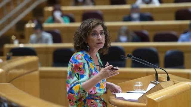 María Jesús Montero, ministra de Hacienda, en el Senado.