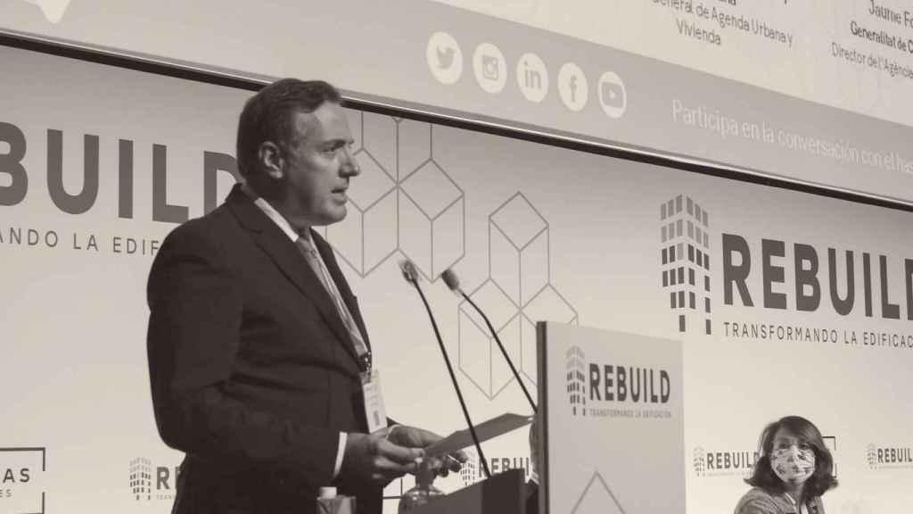 El presidente de AEDAS, David Martínez, en Rebuild.