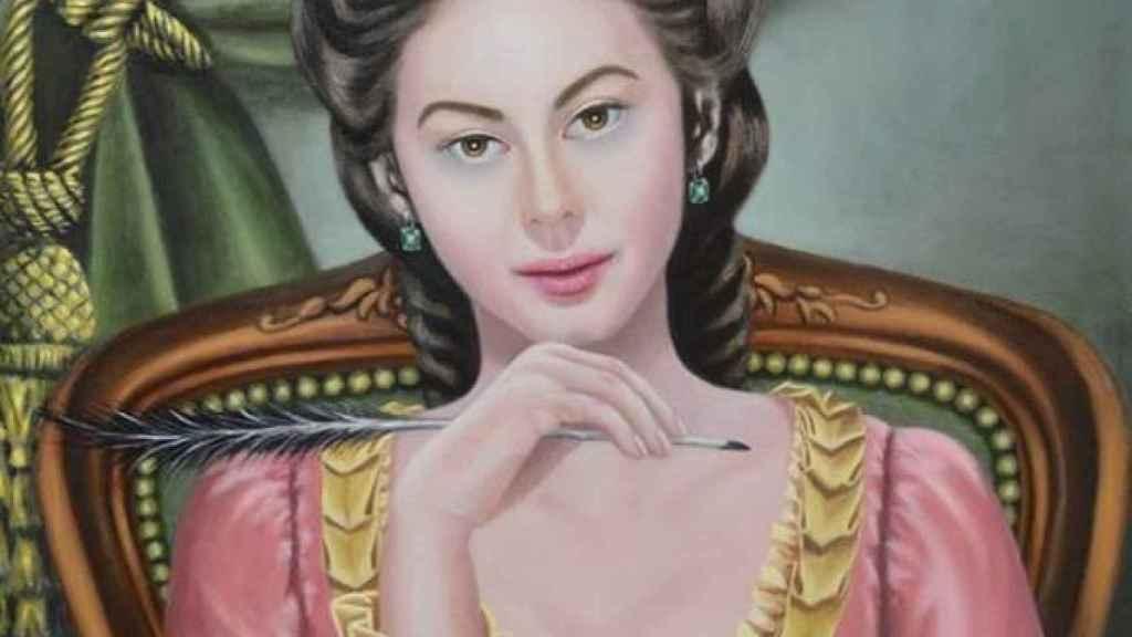 Retrato de la escritora María Rosa de Gálvez de Larisa Sarria.