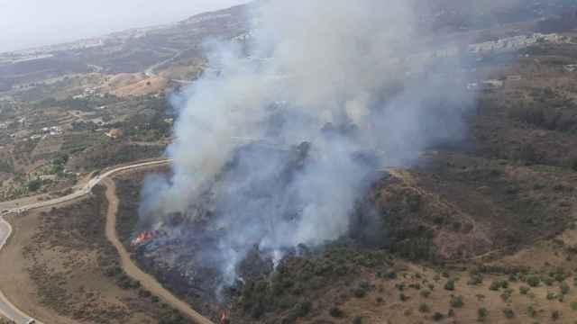 Declarado un incendio en Mijas (Málaga).