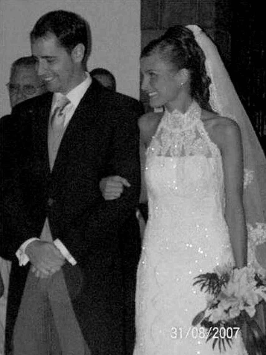 Aritz y Estefanía, el día de su boda en agosto de 2007.