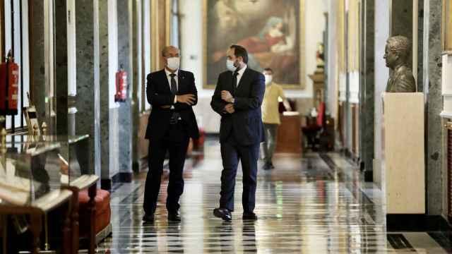 Núñez y Monago este miércoles en el Senado.